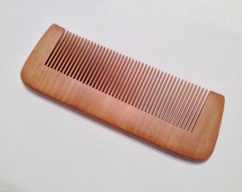 Organic Red Sandalwood Beard Comb Natural Antistatic Massaging Therapeutic Beard Basics