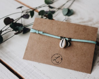 Ankle strap with Shell light blue