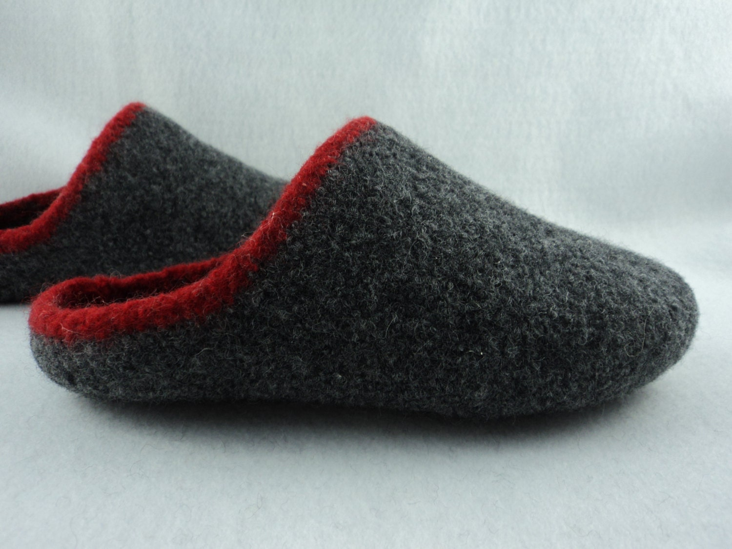 PDF Mens Scuff Slippers Felted Wool Knitting Pattern