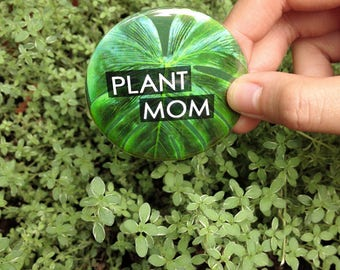"""Plant Mom 2"""" Pinback Button (pack of 2)"""