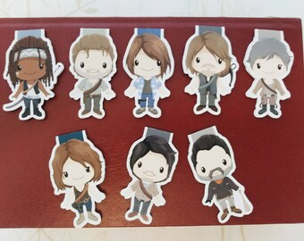 The Walking Dead — magnetic bookmarks