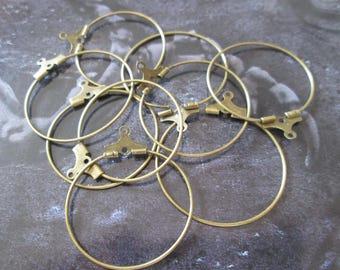 bronze 10 hoop earrings 35 mm