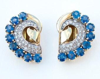 Blue Butterfly Earrings, 17.5 x 25 mm