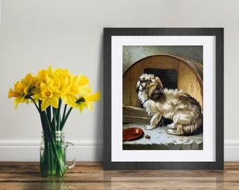 "Child's Room Art, Family Room Art, Bedroom Art, Dog Art, Dog Print ""I Love You, Please Cuddle Me"" SWEET Print for Dog Lovers, #347"