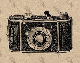 Vintage Image Photo Camera 35mm Instant Download Digital retro drawing printable graphic kraft pillows tote tea towels t-shirt  HQ 300dpi