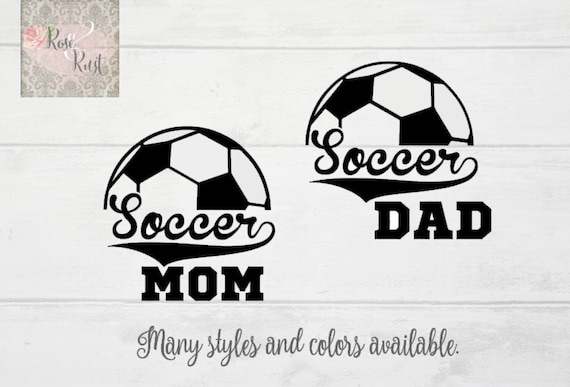 Soccer Mom Decal Soccer Dad Decal Sports Decals Soccer Car - Window decals for sports