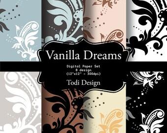 Vanilla Dreams - I N S T A N T • D O W N L O A D Digital Paper Set