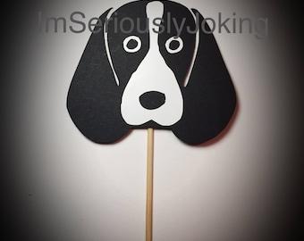 Cupcake Toppers-12 Beagle -hound dog- basset hound- Cupcake Toppers- Birthday party-dog party-puppy-mans best friend-rescue dog