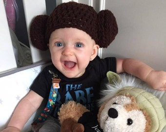 STAR WARS Baby Princess Leia inspired  Beanie