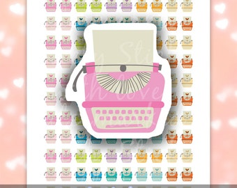 280 pcs Printable Typewriter Stickers For Erin Condren & Happy Planner // Writing Planner Stickers // Instant Digital Download, PDF + JPG