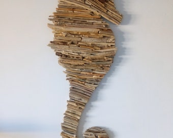 Large seahorse wall Driftwood