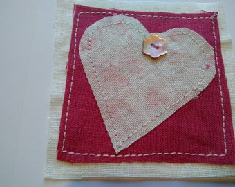 Faded Floral Heart greetings card