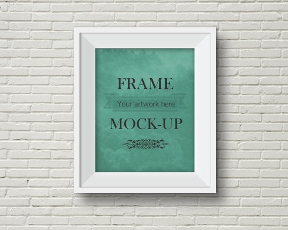 Mock Up Frame Artwork Picture Clipart Stock Image Wall Hanging 8x10 16x20 Instant Download From PaperFarms On Etsy Studio