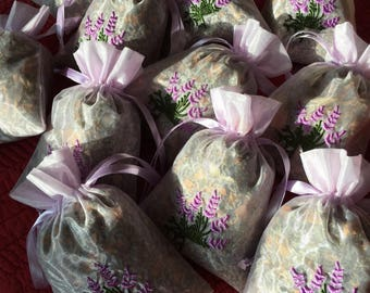 Lavender Rose and other herb sachet