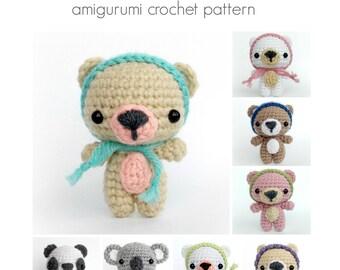 PDF Crochet Bear Pattern, Tutorial, Amigurumi Bear Pattern, Crochet Panda Pattern, Crochet Koala Pattern - English Only - Instant Download