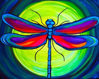 Dragonfly ~ Fine Art Print Surreal Color
