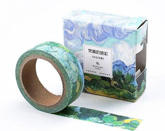 """Van Gogh Inspired Washi Tape - """"Wheatfield With Cypresses 1889"""""""