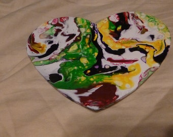 Abstract Heart Pour