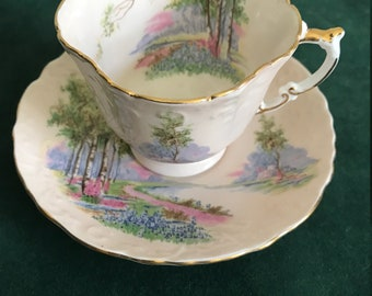 English Aynsley Porcelain Cup and Saucer