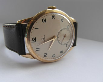 c1952 Large 9ct Gold Omega Watch Cal. 266