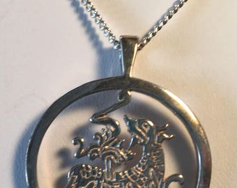 20% off Vintage Ortak Silver Pendant Necklace and Box Orkney Harvest Dog Bikko