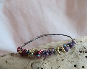 Colorful Bracelet with Wire, bracelet, colorful, wire