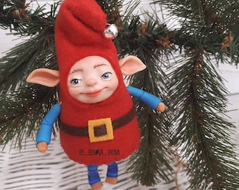 Elf Doll Polymer clay, Art Doll, Polymer Clay Doll,