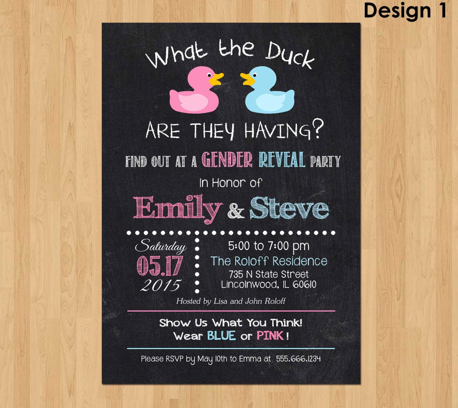 Gender Reveal Invitation What the Duck Gender Reveal