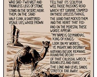Illustrated poem: 'Ozymandias' by Percy Bysshe Shelley