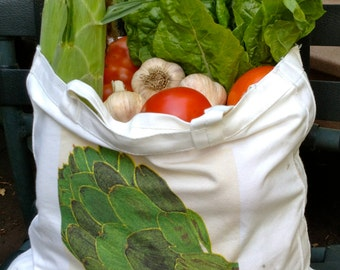 TOTE BAGS with vegetable images