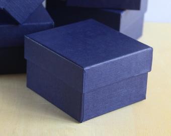 Set of 6, Fancy Navy Gift Box, Jewelry Box,