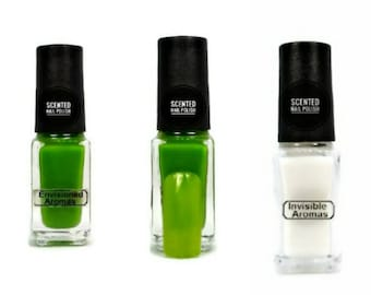 Two if by Scent Collection Green/Lemongrass Scented Nail Polish