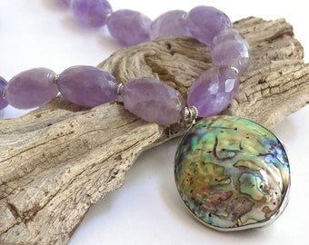 Necklaces for Women Statement Necklace Gift for Her Gemstone Jewelry Gift for Women Boho Necklace Birthday Gift Amethyst Necklace