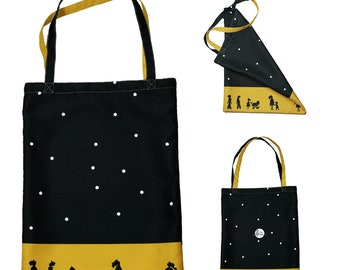 "Art tote bag for shopping, as a present for her or for everyday needs. ""Night sky""."