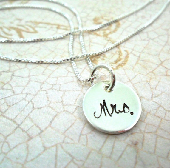 Mrs. Necklace | Mrs. Jewelry | Bridal Shower Gift | Wedding Shower Gift | Gift for Bride to Be | Sterling Silver | Petite Necklace