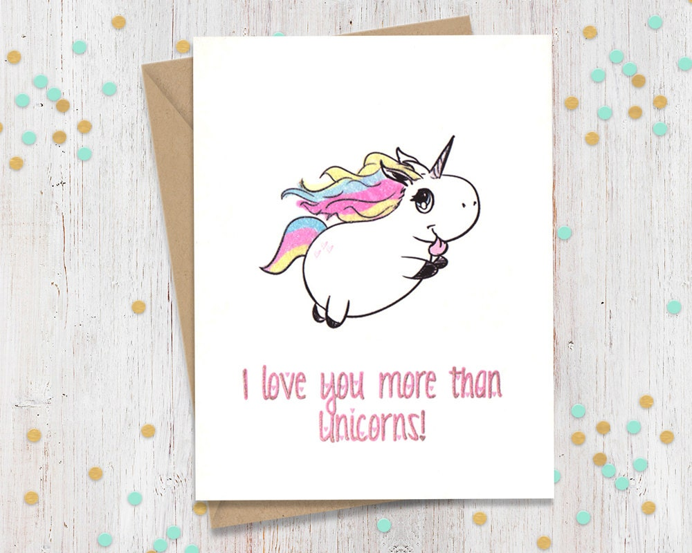 Unicorn card funny anniversary card card for her card for zoom kristyandbryce Gallery