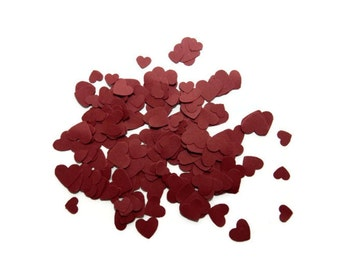 200 Burgundy Wedding Heart confetti, table scatters, wedding table decor, heart scatters, Baby shower, bridal shower decor, embellishment