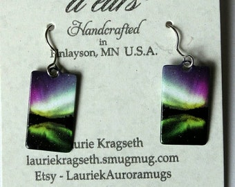 Northern Lights Earrings - Pond Reflection