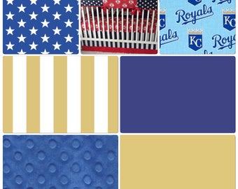 Kansas City Royals Baby Bedding Crib Set Royal Blue Light Blue Gold Baseball