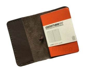 Leather A7 Notebook Cover, Notebook  Mini Cover, Mini Notebook Case, A7 Journal Cover, Journal Holder, Leuchtturm1917