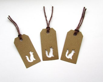 10 Fox Gift Tags, Gifts, Wedding, Presents, Natural, Special, Handmade, Free postage to UK