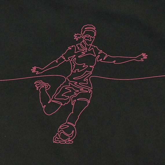 Women's Soccer T-Shirt, Gift for Woman Soccer Player, Soccer Art, Girl's Soccer T-Shirt, Girls Graphic Tees, Soccer Tees, Cool Soccer Stuff