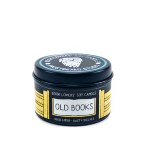 Old Books - 2 oz Mini Book Lovers' Soy Candle -  Book Lover Gift - Scented Soy Candle - Frostbeard Studio
