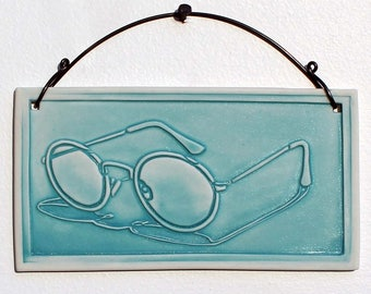 Sunglasses Porcelain Relief Print
