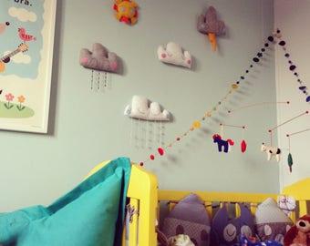 Weather Plushie Felt Wall Decorations