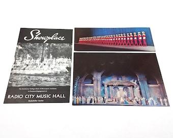 Vtg 1960s Radio City Musical Hall Showplace Program Postcards Rockettes Nativity