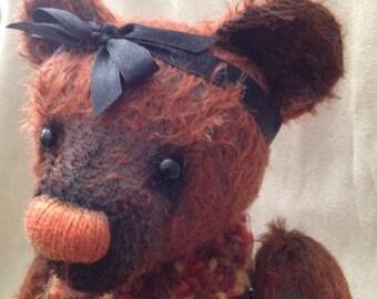 Krispin, Ooak mohair artist bear bearflair Alaine Ferreira, Bearflair