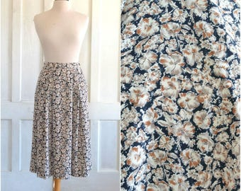 Pendleton Silky Floral Midi Skirt - 28 inch waist