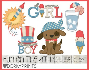 4th of July Cuttable Files -For Use with Cutting Machines - Summer svg, mtc, pdf, gsd, and wpc files, Patriotic SVG