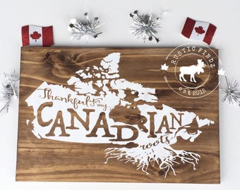 Canada Wood Sign // Canada Decor // Canadian Decor // Canada Day Decor // Canadian Roots